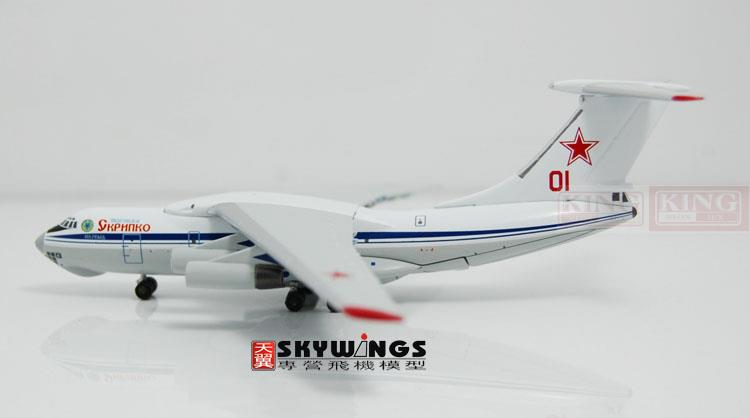 WT4I76006 IL-76MD Russian air force Witty 01 1:400 commercial jetliners plane model hobby