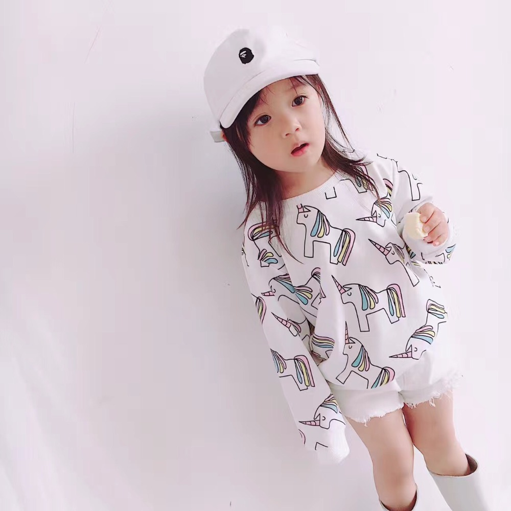 2016 winteR KIDS unicorn printed cartoon  jackets coat hoodies boys clothes girl clothes kids clothing kikikids  christmas tops