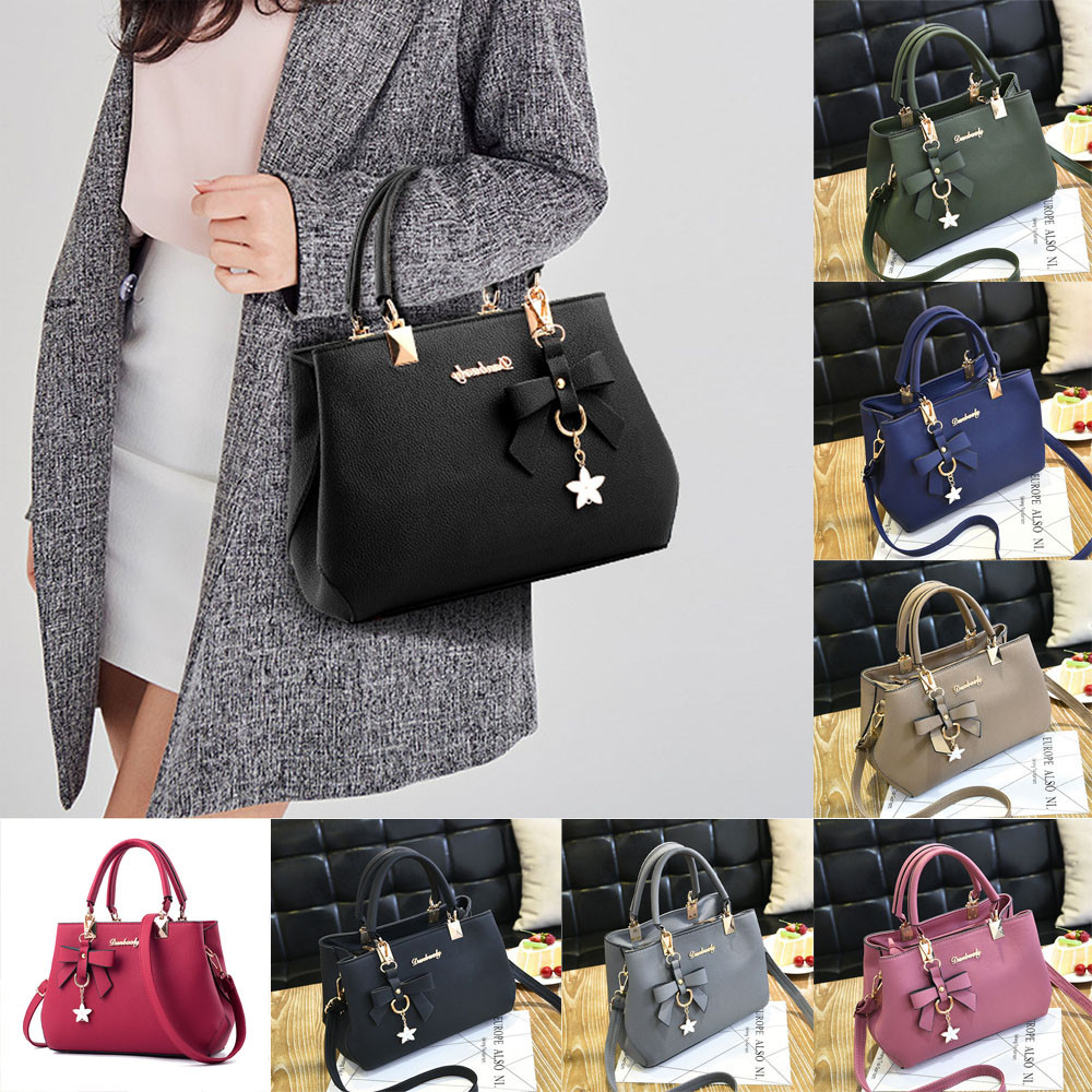 2d06a3270e Women Lady Leather Handbag Shoulder Bag Messenger Satchel Shoulder  Crossbody Bag