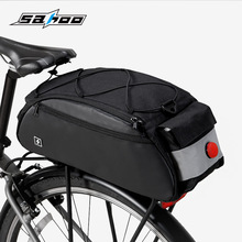 Cycling Bicycle Bags 10L Saddle Rear Seatpost Bag Rack Trunk with Taillight Reflective Mountain Road Bike Shoulder Handbag