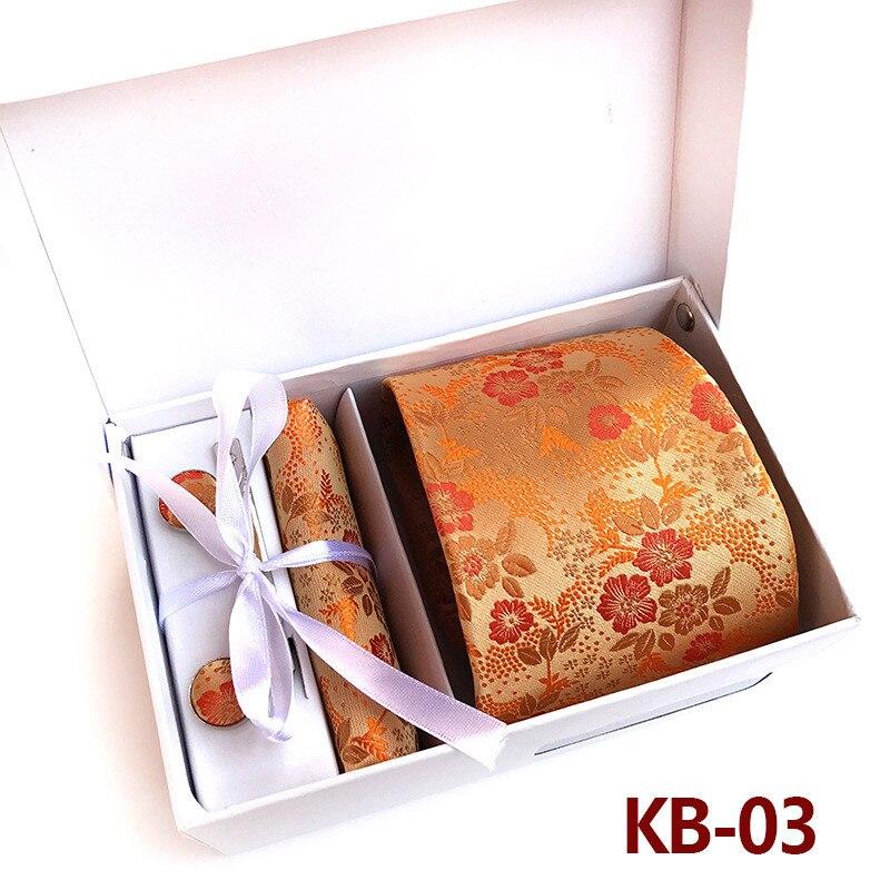 CityRaider Brand Gravata Floral Print Mens Silk Ties For Men Tie Necktie Orange Handkerchief Cufflinks Tie Clips Sets LD023