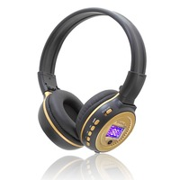NEW Zealot B570 Mp3 LCD Foldable On Ear Wireless Stereo Bluetooth V4 0 Headphones With FM