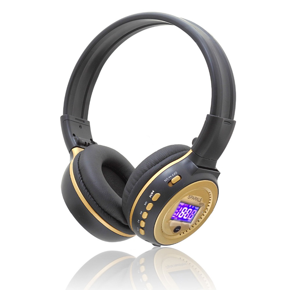 Zealot B570 headset LCD Foldable On-ear Wireless Stereo Bluetooth V4.0 Headphones with FM Radio TF Card MP3 For Smart Phone new bluetooth headset wireless headset folding headphones mp3 player fm radio music stereo headphones for xiaomi headphones