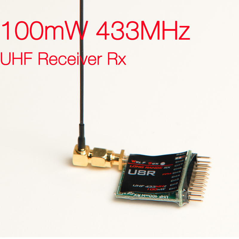 Wolfbox 100mW 433MHz UHF Receiver Rx Compatible with X9D 9XR PRO FlySky 9 9XII