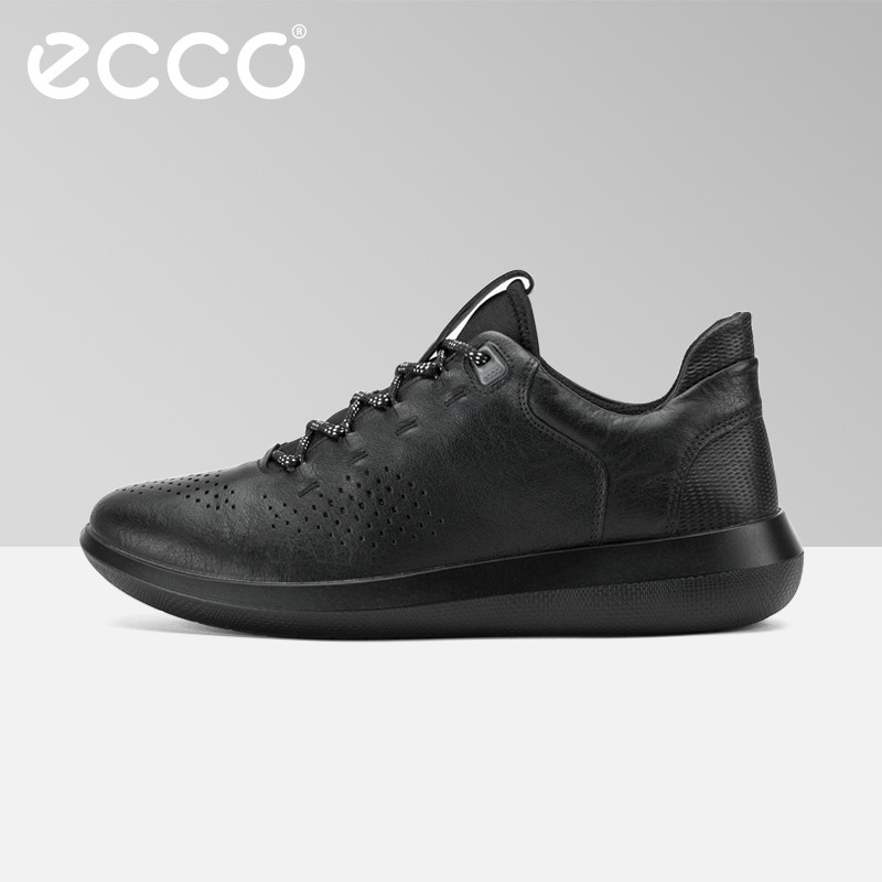 b9281761459a ECCO Fashion Brand Men s Casual Shoes Cow Leather Walking Footwear Round  Head Breathable Comfortable Outdoor Sneakers Shoes