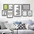 Nordic декоративная живопись современная гостиная плакат черно-белый Английский абстрактные творческие дома холст для живописи