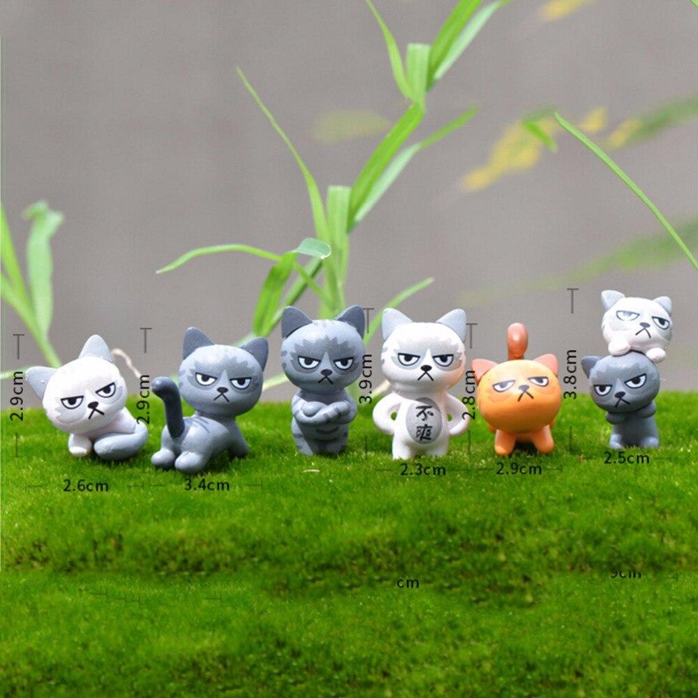 Angry Cat Animal Miniature Fairy Garden Home Houses Decoration Mini ...