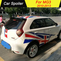 For MG 3 2010 2013 Spoiler ABS Material Tail Wing Decoration Primer Color Rear Trunk Car Spoilers Wings For MG3