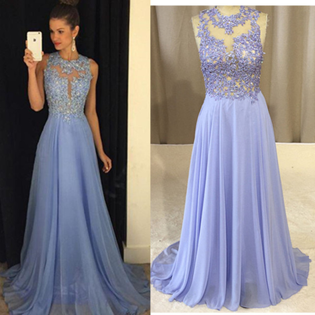 38297397ab Special Occasion Prom Dress Lavender 2017 New Crystal Beads Appliques  Chiffon A Line Evening Party Gowns Colorful Vestidos
