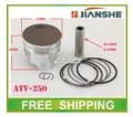 70mm anillo de pistón pin set JIANSHE ATV loncin 250cc refrigerado por aire del motor número JS171FFM accesorios envío gratis