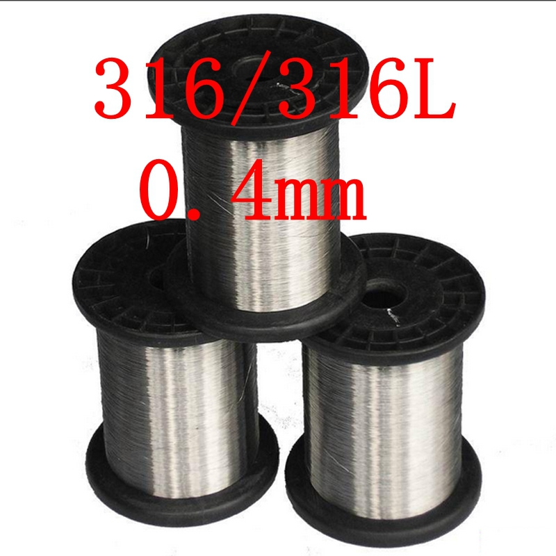 0.4mm,316/316L Soft Stainless Steel  Wire,27 gauge/0.4mm SS Seaworthy Thread 3mm 7 7 stainless steel 316 wire rope 7x7 strand core seaworthy marine grade