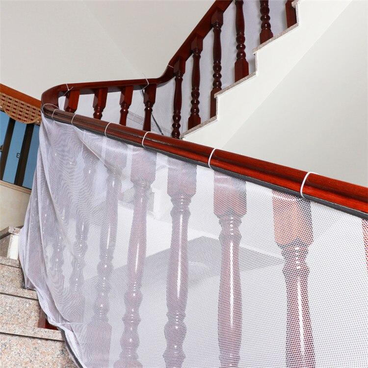 Детская Защитная сетка, балкон и лестница, защитная сетка для ребенка, ребенка, детей в помещении и на открытом воздухе-детская игрушка для питомца - Цвет: 200x80cmWhite edging