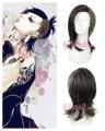 Envío gratis 40 cm de pelo sintético recto mezcla negro gris tokio Ghoul Uta Cosplay peluca
