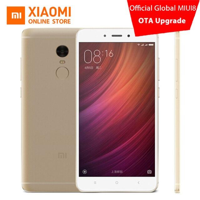 Оригинальный Xiaomi Redmi Note 4 Премьер мобильный телефон 3 ГБ Оперативная память 64 ГБ Встроенная память MTK helio X20 Дека Core 5.5 -дюймовый 1080 P 13.0mp отпечатков пальцев