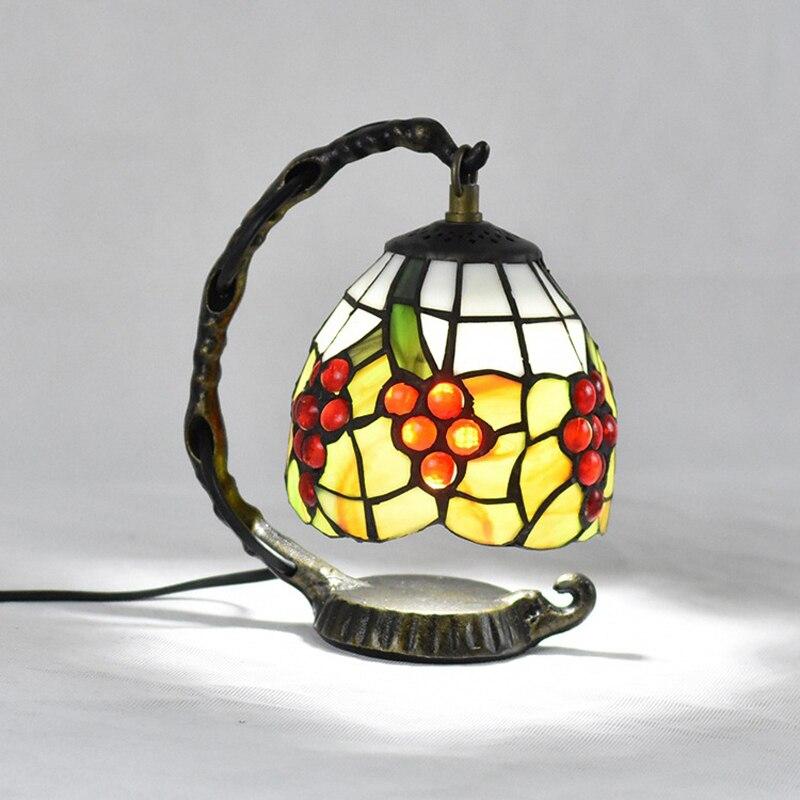 Europe Vintage Table Lamp Stained Glass Lampshade Turkish Desk Light Bedroom Bedside Mediterranean Decoration Props Indoor Light