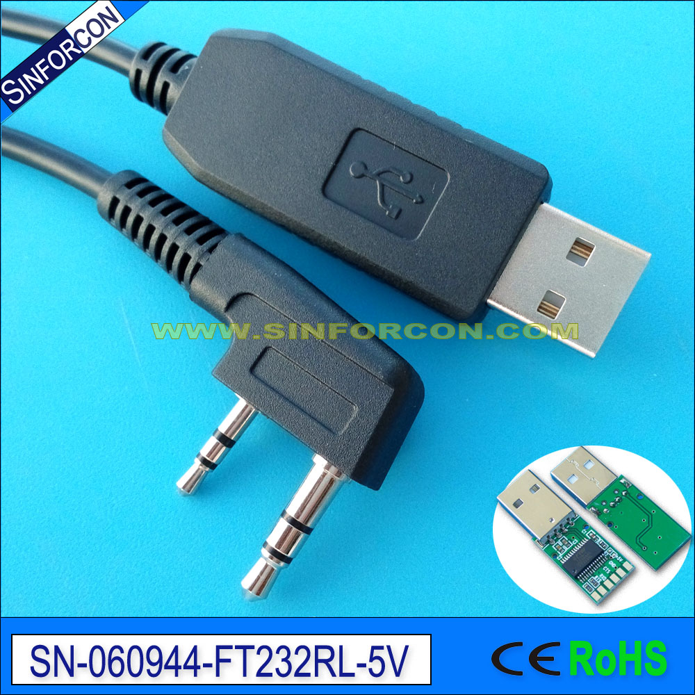 Купить Ftdi Usb Uart Ttl 5V Adapter Cable For Baofeng888 888S Mobile Radio Compatible With Uv-3R Usb-02 Uv-5R
