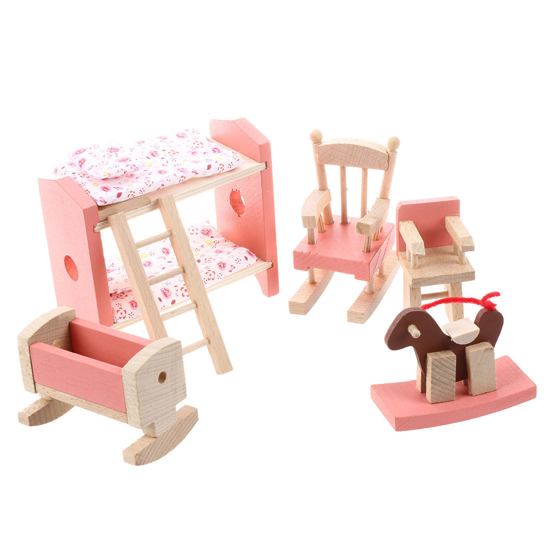 New Wood Furniture Room Set for Doll's House Children toy