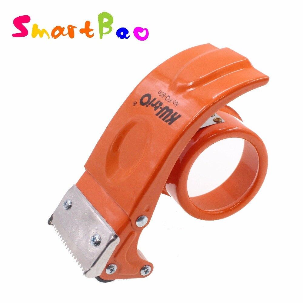 60mm Metal Cinta cartón sellador máquina de sellado dispositivo cortador de Cinta empaquetador Corta Cinta Adhesiva; ancho de la hoja 2,36