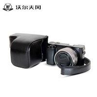 Вольфганг для Sony A6000 A6300 Камера чехол кожаный чехол DSLR Камера сумка чехол с ремешком костюм 16- 55 мм объектив Интимные аксессуары