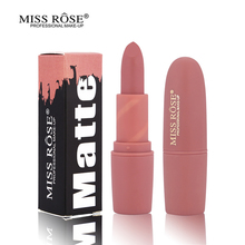 New Beauty MISS ROSE Red Lips Baton Matte Full Lip Stick Waterproof Makeup Colors Pigment Nude Matte Lipstick Batom liquido Matt