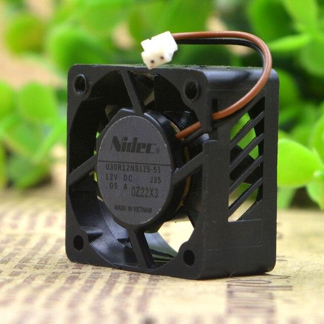 For Nidec U30R12NS1Z5 51 30mm 30x30x15mm DC 12V 0.05A 3cm micro projector mini cooling fan 8000RPM 3.18CFM