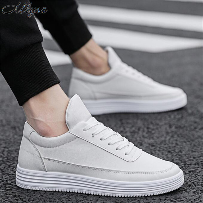 Mhysa 2019 New Spring Autumn Men Fashion Wild Men's Shoes Flats Slip Comfort Light Lace Up Solid Casual Sneakers Shoes L003