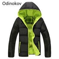Odinokov Winter Jacket Men 2017 Cotton Padded Warm Thicken Short Jacket Coat Clothing Stand Collar Male