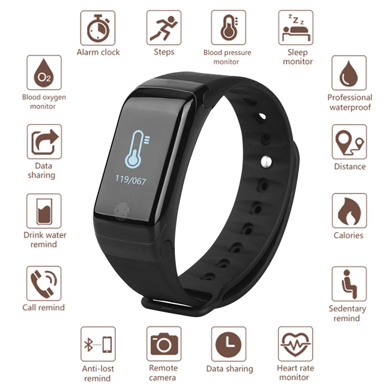 New Smart Watch Heart Rate Monitor Blood Pressure Fitness Tracker Smartwatch Men Women Sport Watch Wristband for ios android