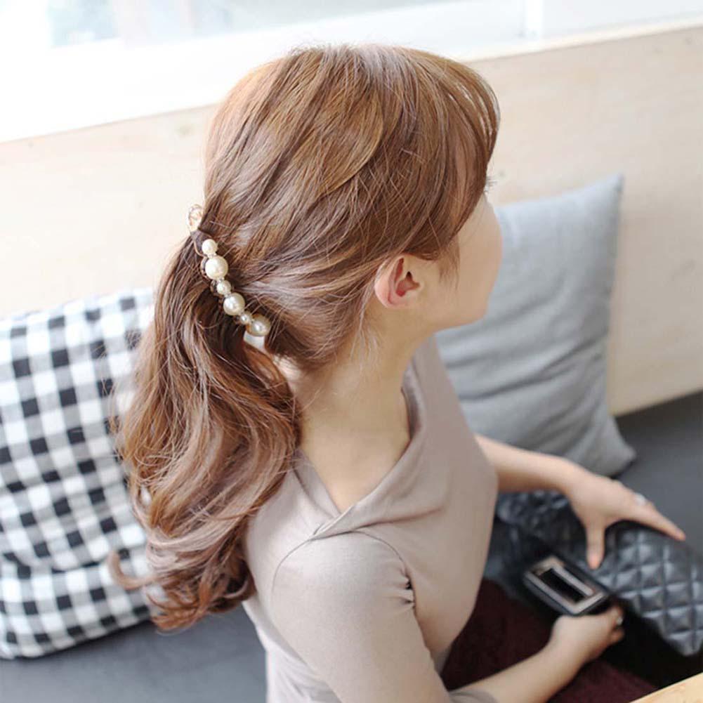 Faux Pearl Rhinestone Hairpins Hair Clip Banana Clip Hairgrips Ponytail Barrette