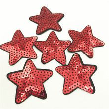 100pcs Wholesale Star embroidery Sequins Patches Iron on Stickers for Clothes Sequin Applique Clothing Sewing Accessory