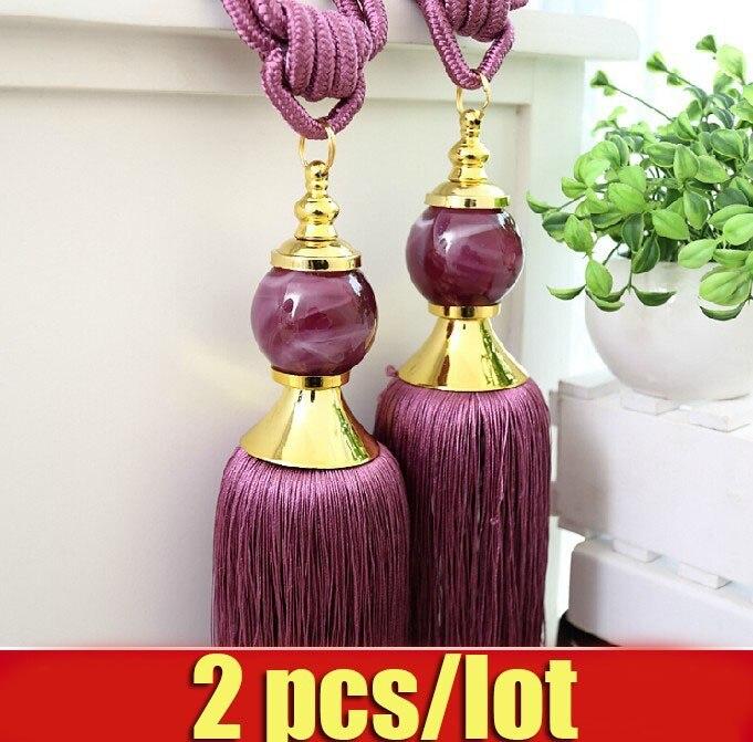 2 pcs/lot decorative curtain accessories <font><b>holder</b></font> curtain tassel ball high curtain tassel tieback large curtain <font><b>holder</b></font> crystal
