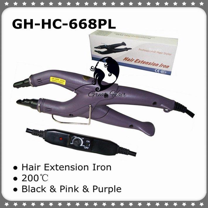 קראטין היתוך שיער מחבר עם טמפרטורה מתכווננת לשימוש של כל סוג של מערכת הארכת שיער