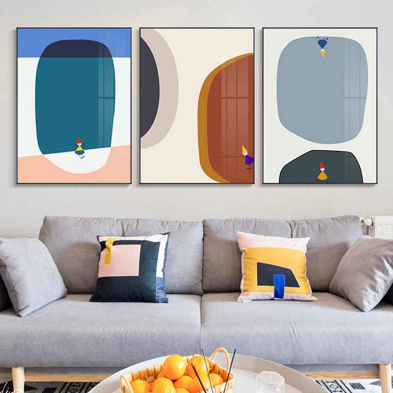 Modern Abstract Picture Home Wall Decor Nordic Canvas Painting Wall Art Minimalist Colorful Decor Posters and Prints for Bedroom