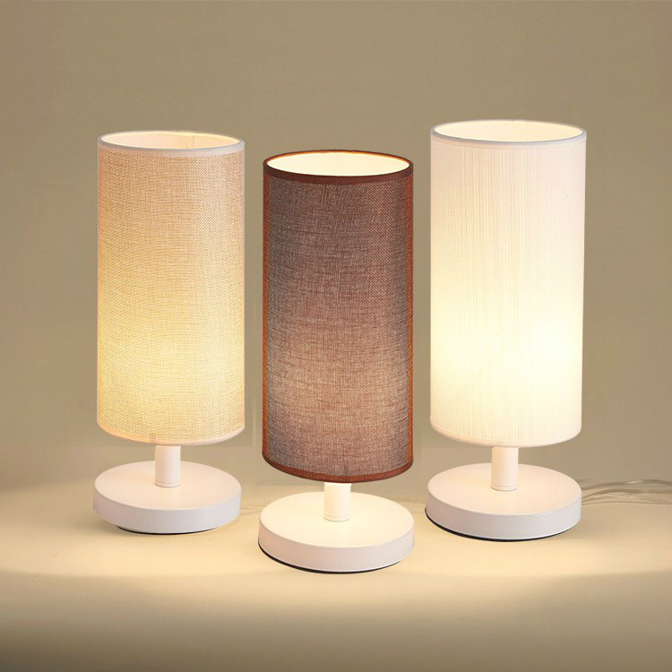 Cloth lamp mini living room simple table lamp balcony hotel bed bedroom cloth lampshade linen art lamps and lanterns HT18ZA11