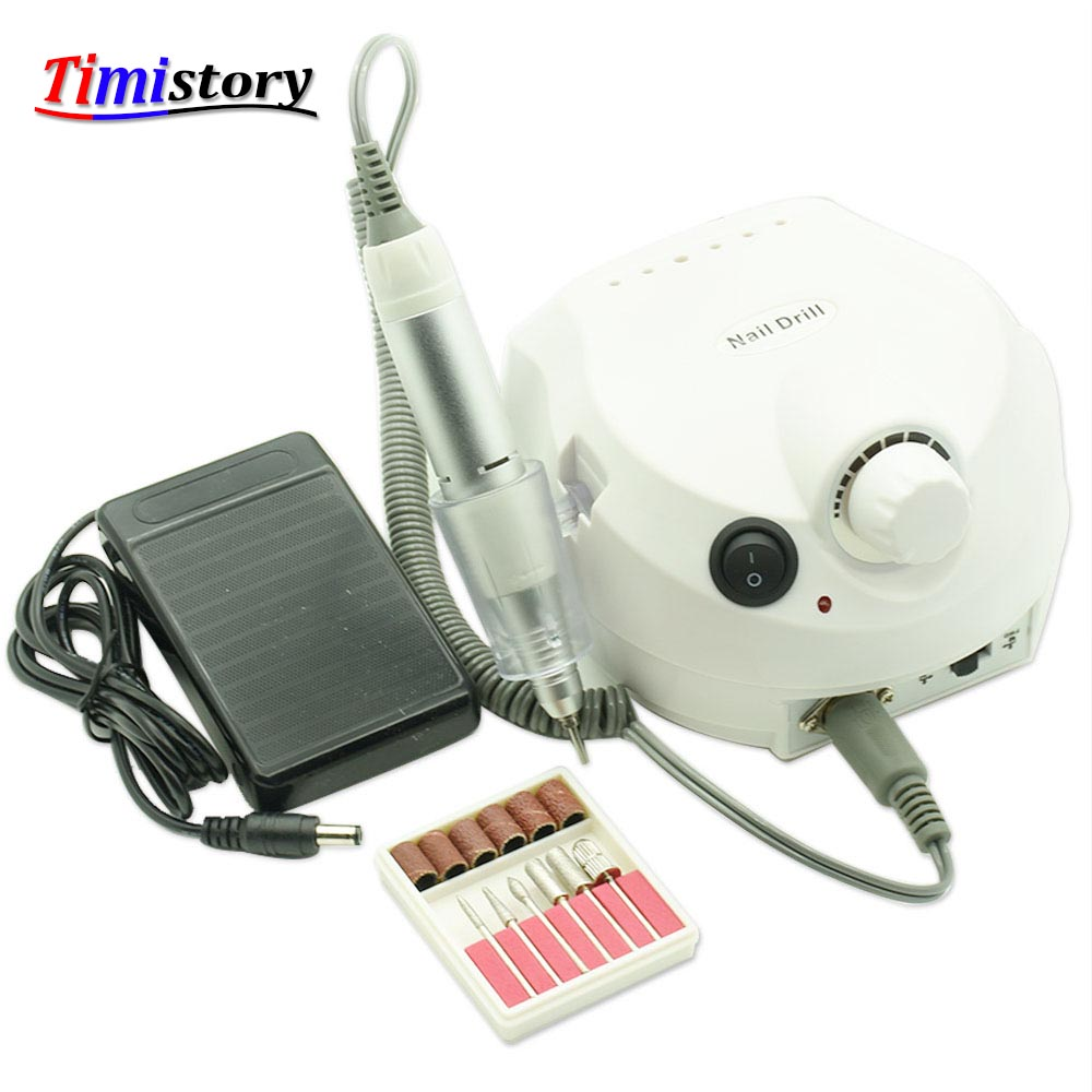 где купить JEWHITENY 30000 RPM Electric Nail Drill Machine for Manicure Pedicure Drill Nails Accessoires Tool 2018 Nail Milling Cutters Set дешево