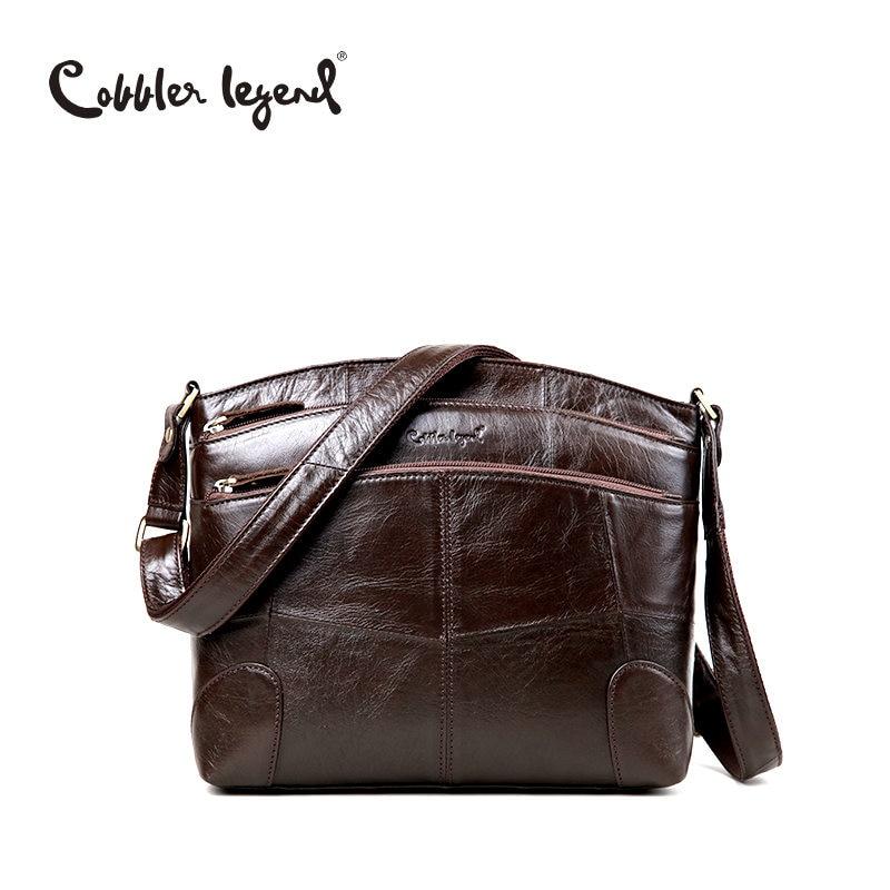 Cobbler Legend Brand Designer Women's Crossbody Bag Genuine Leather Shoulder Bags For Female Casual Bag Ladies Handbag 0910006-1