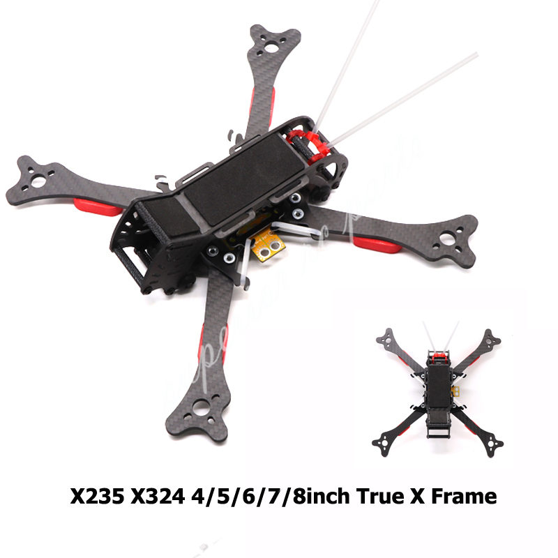 HSKRC 4inch X200 200mm 5inch X235 235mm HX215 215mm 6inch X268 268mm 7inch X292 292 8inch X324 324 Carbon Fiber Quadcopter Frame