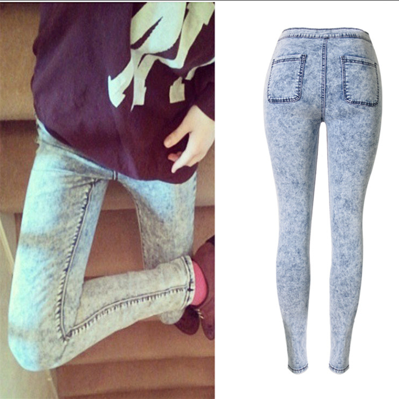 f9b2025212a2 Fashion Snow Wash Tie Dye jeans woman Pencil Pants jeans for women jeans  elastic mujer femme Skinny jean pants high waist-in Jeans from Women s  Clothing on ...