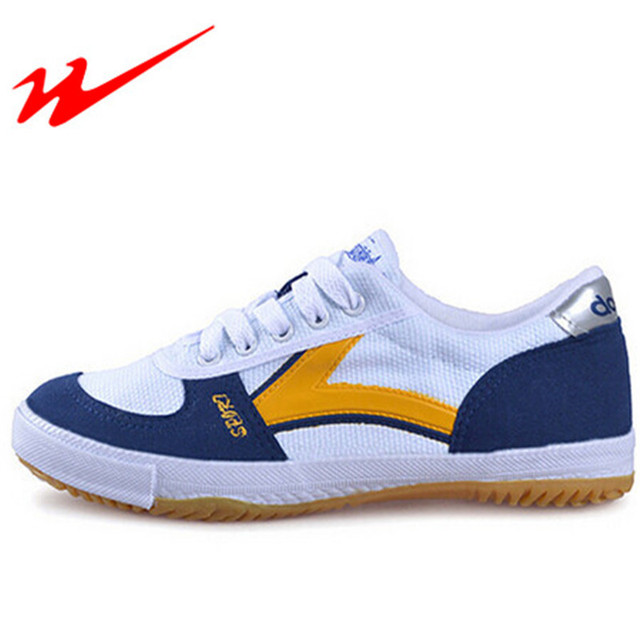 5d501a3b76c DOUBLESTAR MR Mens Tafeltennis Schoenen Vrouwen Canvas Lace-Up Sport Training  Schoenen Sneaker Lichtgewicht Outdoor