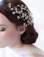 Bridal Hair Comb Clip Crystal Flower Rhinestone Combs Wedding Hair Accessories Bridal Headwear Headpiece Head Jewelry WIGO0622