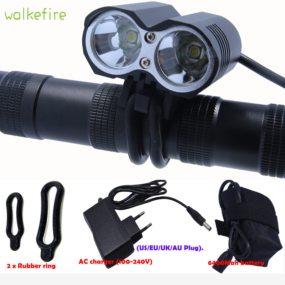 Walkfire 5000 Lumen 2* XML T6 LED Bicycle Handlebar Headlight Bike Front Light Cycle Bicicleta Torch Flashlight Bike Accessories sitemap 2 xml