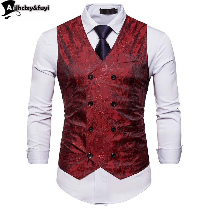Made Royal Blue Men Blazer Vest Fashion Casual Suit Vest Work Men Outwear Coat Single Breasted Men Waistcoat