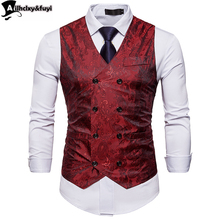Suit Vest Coat Work Single-Breasted Fashion Casual Royal-Blue Blazer Outwear Men