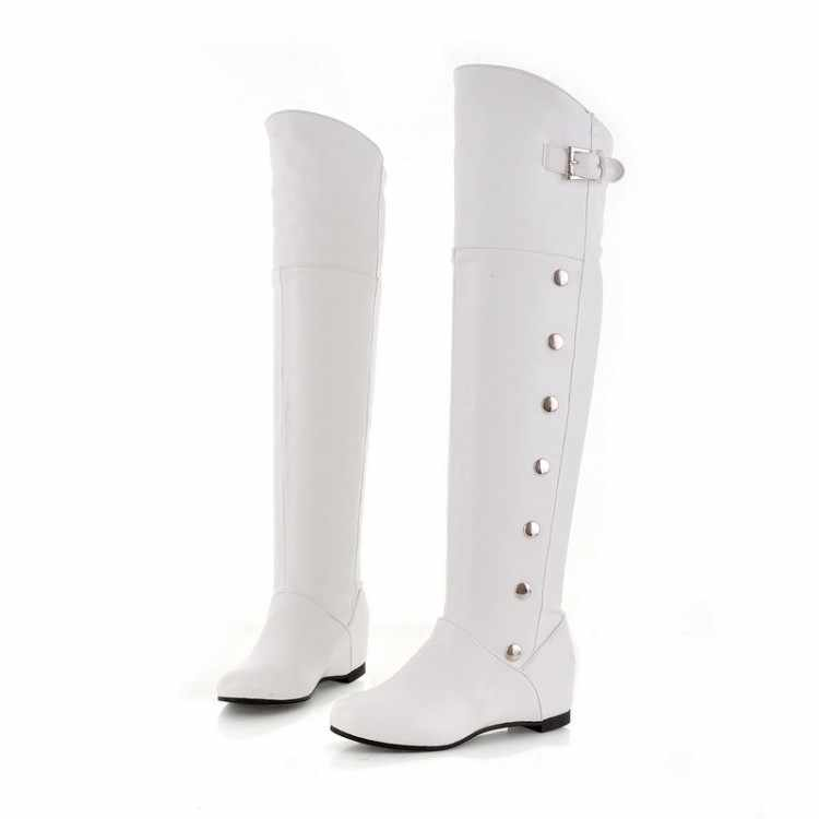 2017 จำกัดฤดูหนาว Botas Mujer แฟชั่นอัศวินสีดำ,สีขาว, หญิง Martin WARM ฤดูหนาวรองเท้าผู้หญิง 612