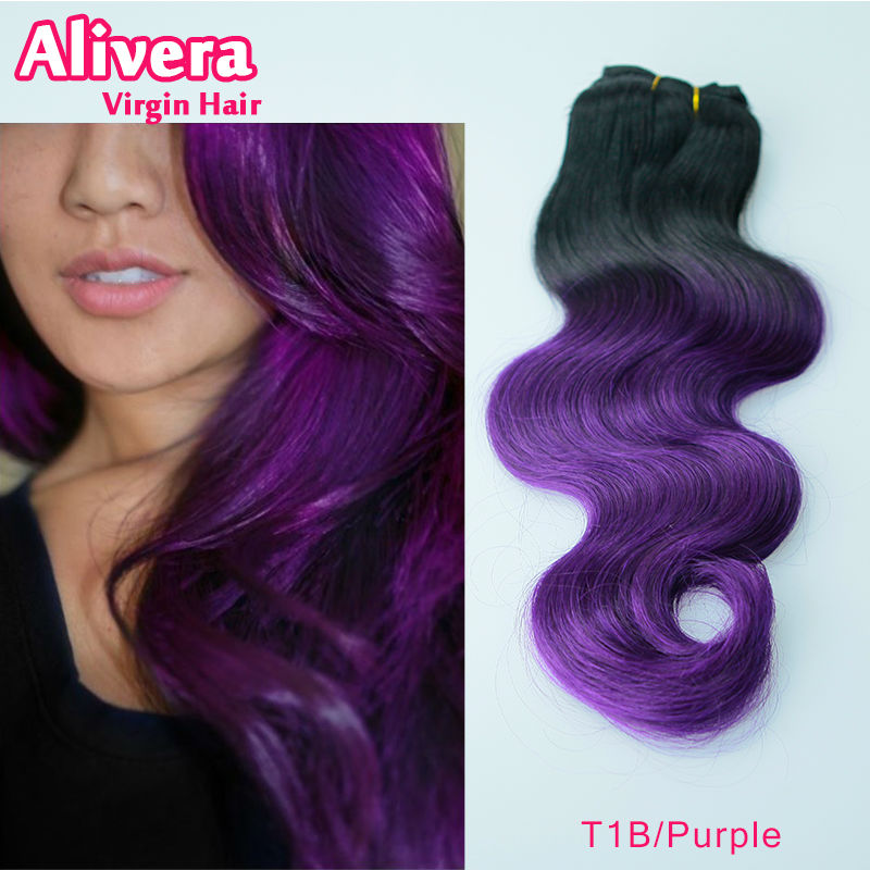 Purple Brazilian Body Wave 3pcslot Two Tone Ombre T1bpurple Hair