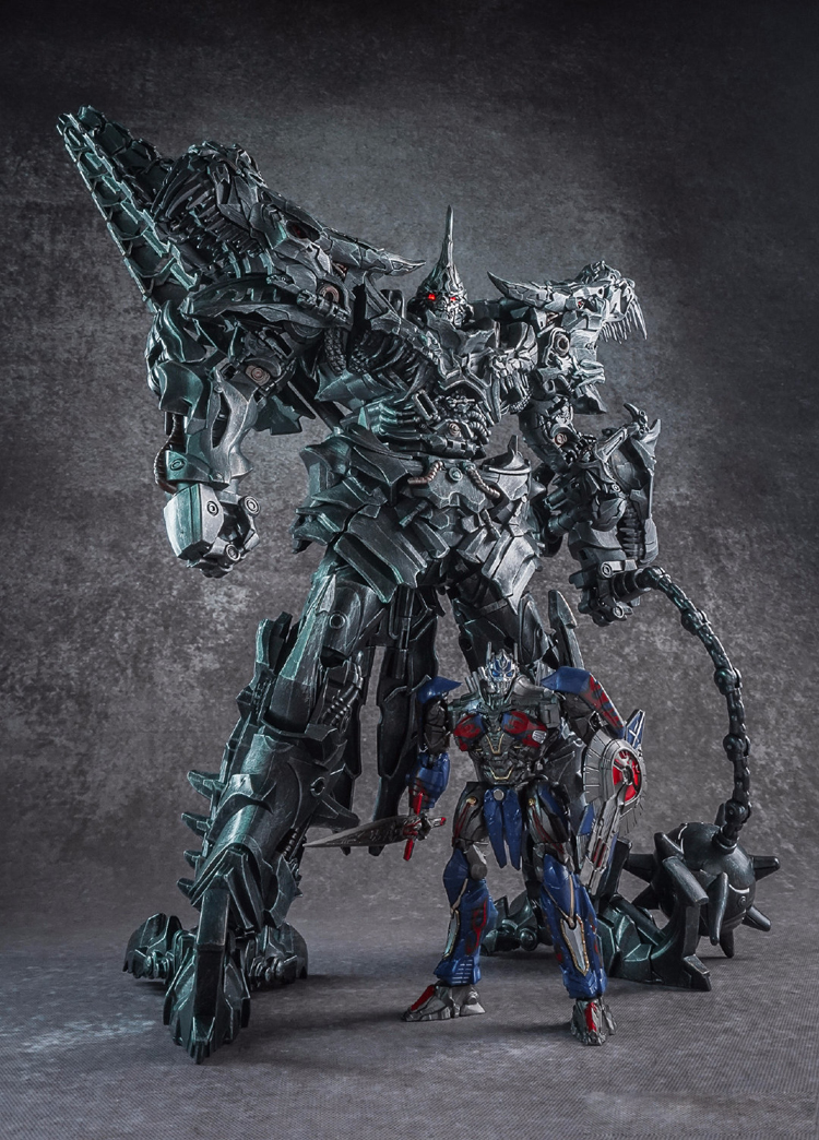 WEIJIANG WEI JIANG Transformation SS07 LS05 LS-05 58CM Dinosaur Diecast Oversized Grimlock with Optimus primes Action Figure toy