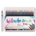 20 Cor Premium Marcadores Copic Conjunto Caneta Aquarela Pintura Escova Macia Caligrafia Caneta Efeito Melhor Para Colorir Livros Em Quadrinhos Mangá