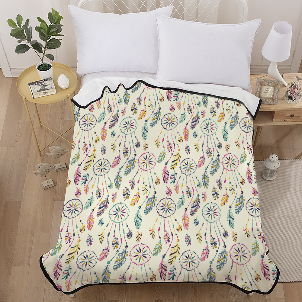 Dreamcatcher Soft Comfortable Throw Blanket Warm Bedspread Coral Flannel Blankets for Sofa/Bed/Car Portable