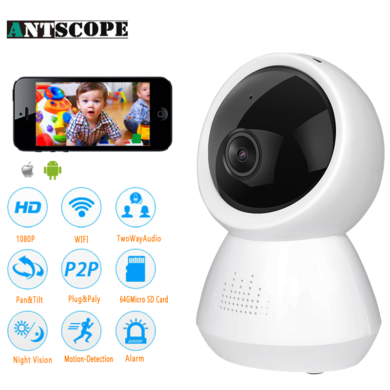 1080P 2MP HD Wireless IP Camera Wi-fi Robot Camera Wifi Night Vision Cameras Network CCTV Support Two-Way Audio Surveillance Cam