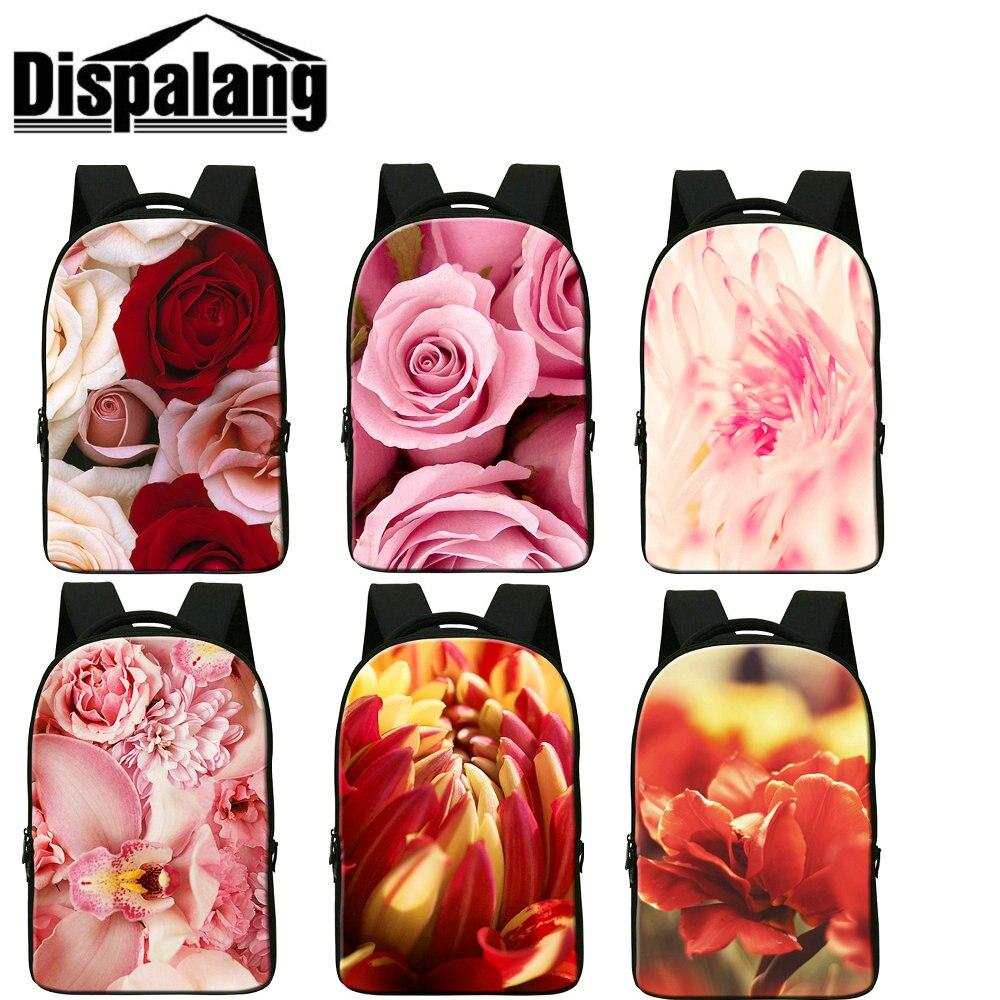 Dispalang 3D floral printing school bags for girls women lovely flower back pack female bagpack laptop backpacks mocila feminina